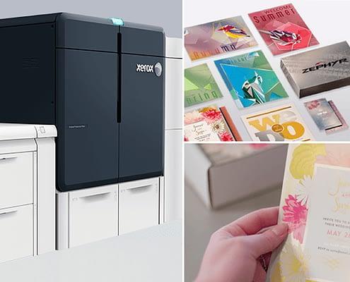 Silver Gold Metallics and White ink - Xerox Iridesse Production Printer Press